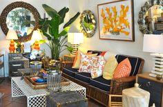 Bright #decor at #PalmBeach #Mecox #interiordesign #home #decor #design #MecoxGardens