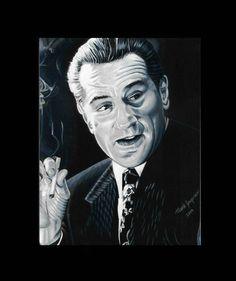 Robert D'Niro Painting Classic Smoking scene #cigarette