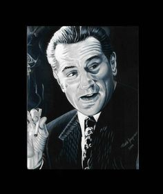 Robert Dinero Painting Classic Smoking scene #cigarette