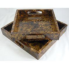 reclaimed mango wood tray