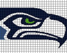 Seattle Seahawks Crochet Graphghan Pattern (Chart/Graph AND Row-by-Row Written Instructions) -- Just have to update the colors. Loom Patterns, Cross Stitch Patterns, Quilt Patterns, Seattle Seahawks, Seahawks Football, Beading Projects, Crochet Projects, Beading Ideas, Stud Earrings