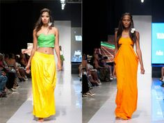 Dresses from the Wadada Movement clothing line
