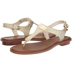 MICHAEL Michael Kors MK Plate Thong Women's Sandals ($99) ❤ liked on Polyvore