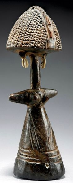 Africa | Fertility doll from the Bagirmi people of Chad | Wood and metal | Early 20th century