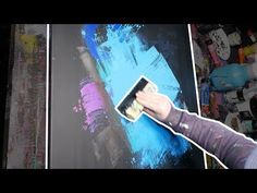Acrylic Abstract Painting   Speedart demonstration   Noseslide - YouTube