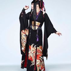 Japanese Costume, Japanese Kimono, Kabuki Costume, Japanese Outfits, Yukata, Costumes For Women, Geisha, Kimono Top, Clothes