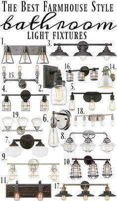 Farmhouse Style Bathroom Light Fixtures  