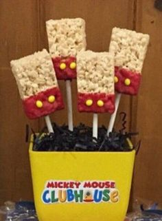 Mickey Mouse Rice krispie treat pops by SweetsbySmooches on Etsy