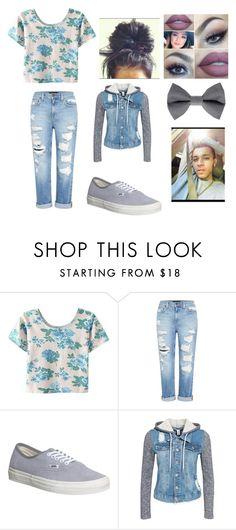 """Untitled #1049"" by queen-bae-foreve ❤ liked on Polyvore featuring Lumière, Genetic Denim, Vans and NLY Trend"