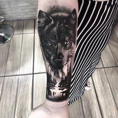 Black Ink Tattoos, Wolf Tattoos, Tatoos, Jack Tattoo, Tattoo On, Animal Tattoos For Men, Tattoos For Guys, Wolf Tattoo Sleeve, Sleeve Tattoos