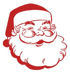 Free Clip Art Christmas Decorations | Retro Christmas Clip Art - Jolly Santa - The Graphics Fairy