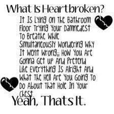 so heartbroken i feel sick