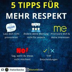 """Doris Gabriele Krautschneider on Instagram: """"#Repost @rhetorikecke with @make_repost ・・・ Vergiss nicht: Sei deinen Mitmenschen gegenüber stets respektvoll🙏 Dein Sebastian…"""" Schneider, Kraut, Weather, Instagram, Respect, Left Out, Business, Tips, Weather Crafts"""