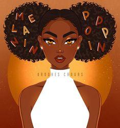 Black Love Art, Black Girl Art, Art Girl, Black Girls, Black Women, Black Art Painting, Black Artwork, Acrylic Paintings, Black Cartoon Characters