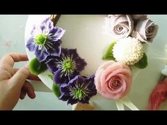 (#힐링 healing)앙금플라워 클레마티스,장미,퐁퐁국화 /Clematis,Rose,pompon/ beanpaste flower piping - YouTube