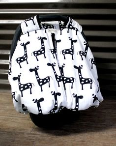 LOVE THE GIRAFFES Soo cute! Great Christmas present Idea! On Sale for Thanksgiving 11/23/2013 - 11/30/2013! Infant Carseat Cover PeekABoo  25% OFF & FREE SHIPPING by WadsworthBoutique, $45.00