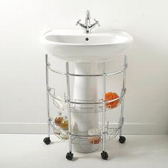 Mueble especial wc 2 colores la redoute interieurs for Estanteria bajo lavabo