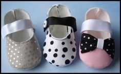 download pattern site  Mary Jane Booties with Ribbon Velcro Strap 0-14mths   New Sewing and Applique   YouCanMakeThis.com