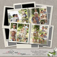 Templates 12x12 album PSD  (PU/S4H) by Alevtina