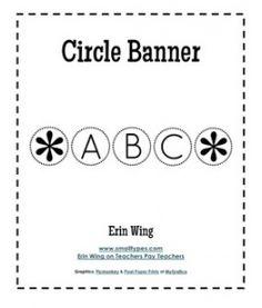 Circle Banner Alphabet