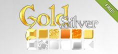 Gold and Silver Text Effect Free PSD Template