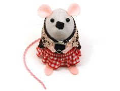 Photographer mouse ornament felt mice rat by TheHouseOfMouse, $34.00