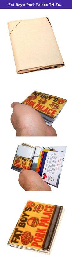 Árbol de cerdos Tri-fold wallet con bolsillo de botón