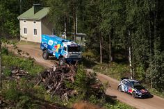 Watch Kamaz and Volkswagen do battle on Rally Finland's iconic Ouninpohja stage.