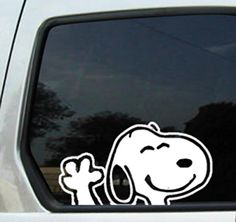 "SNOOPY WAVING 6"" White VINYL STICKER/DECAL Ikon Sign & Design http://www.amazon.com/dp/B003ZZN8SS/ref=cm_sw_r_pi_dp_4za9tb0JWSVH3"