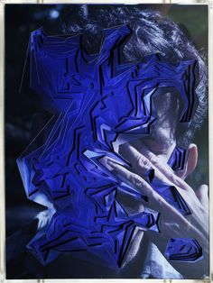 Lucas Simões is an mixed media artist from São Paulo that creates hand cut geometrical portraits through ten layers of photographs arte Glitch Art, Glitch Kunst, Collages, Photomontage, Lucas Simoes, Style Bleu, Modern Art, Contemporary Art, Rhapsody In Blue