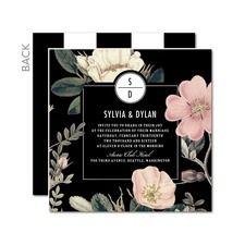 Night Blossoms Vintage Wedding Invitations