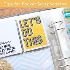 Tips for Pocket Scrapbooking - Simple Scrapper
