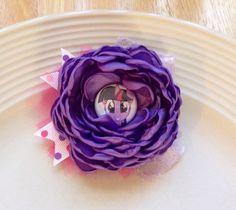 Black Friday Sale Twilight Sparkle flower by JensBowdaciousBows