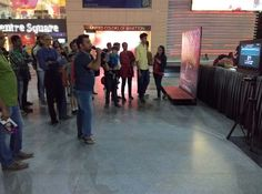 Singing event at Central Square....