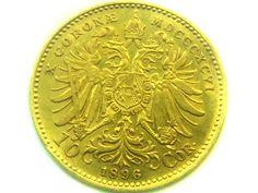 1896 AUSTRIA 10 CORONA GOLD COIN    CO334  gold dcorona coin,austria gold coin , gold coin