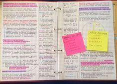 you guys asked me about my double column notes-taking method, here it is how it works. It's very simple and easy to use when you want to repeat the subject before exams or when you have to study from a huge book text! Class Notes, School Notes, Law School, High School, Studyblr, Note Taking Tips, College Notes, College Tips, Study Organization