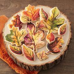 Fall Painted Leaf Cookies