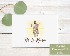 Printable Religious Easter Card, Religious Easter Card Printable, Easter Card Religious, He Is Risen, Jesus, Easter Card Printable, Digital Jesus Easter, Easter Card, Printable Cards, Printables, Easter Religious, Birthday Cards For Boys, He Is Risen, Do What Is Right, Knowing God