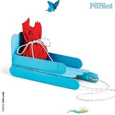 How to throw a toboggan party - Today's Parent Bundle up your snow angels, grab their sleds and run for the hills. Cute craft from Today's Parent<br> Bundle up your snow angels, grab their sleds and run for the hills. Popsicle Stick Christmas Crafts, Popsicle Stick Crafts, Popsicle Sticks, Christmas Crafts For Kids, Cute Crafts, Craft Stick Crafts, Holiday Crafts, Christmas Sled, Christmas Makes