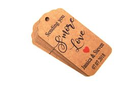 Custom Sending You Smore Love Tags, Personalized Smore Favor Tag, Custom Wedding Tags, Favor Tags Wedding Tags, Wedding Ideas, Love Tag, Personalized Tags, Natural Brown, Favor Tags, Twine, Card Stock, The 100