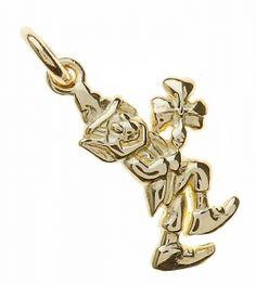 10K Gold Irish Leprachaun Holding a Shamrock