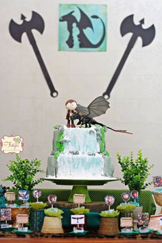 Movie Night- How To Train Your Dragon themed birthday party : The Treats Table