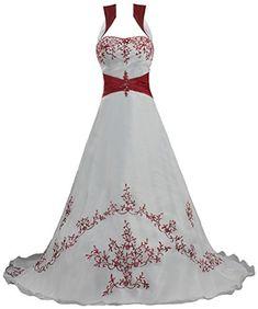 ANTS Women's Detached Colar Red Embroidery Organza Weddin... https://www.amazon.com/dp/B015DOF58Y/ref=cm_sw_r_pi_dp_x_khaIybQCR7Y45