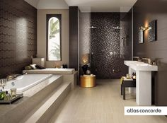 #BRILLIANT sable and chocolat | #AtlasConcorde | #Tiles | #Ceramic