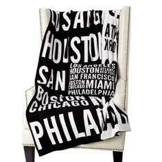 For the traveler in you. A destination blanket to live up a room.