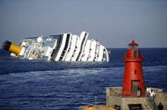 Giglio, Italy: The Costa Concordia cruise ship keels after it was run aground