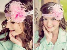 Pink Baby girl Headband.Lace Baby Headband.Baby Girl-Newborn Headband-Pink Headband-Photo Prop