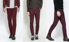 ¡Los pantalones burdeos son un must have de la temporada!