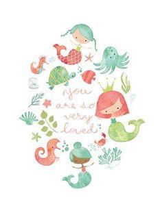 Under the Sea – Heather Rosas Illustration Mermaid Illustration, Cute Illustration, Kids Prints, Art Prints, Mermaids And Mermen, Art Graphique, Mermaid Art, Illustrations, Under The Sea