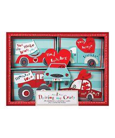 Take a look at this Meri Meri Drive Me Crazy Valentine Card Set by Meri Meri on #zulily today!